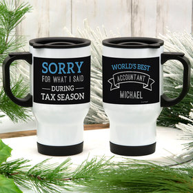 Personalized Stainless Steel Travel Mug (14oz) - World's Best Accountant