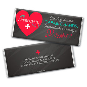 Personalized Healthcare Worker Caring Heart Chocolate Bar