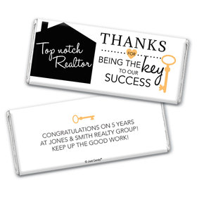Personalized Realtor Key to Our Success Chocolate Bar