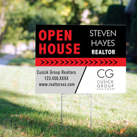 Personalized Real Estate Open House Yard Sign