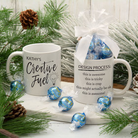 Personalized Creative Fuel 11oz Mug with Lindt Truffles