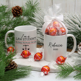 Personalized Law Student 11oz Mug with Lindt Truffles