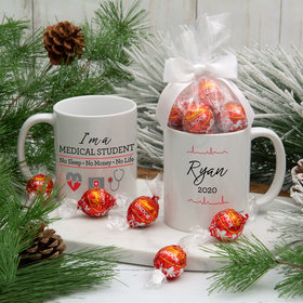 Personalized Med Student 11oz Mug with Lindt Truffles