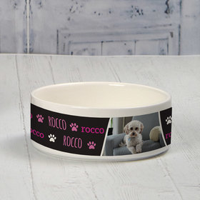 Personalized Small Pet Bowl - Pink Pet Photo