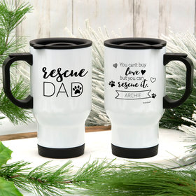 Personalized Rescue Dad Stainless Steel Travel Mug (14oz)