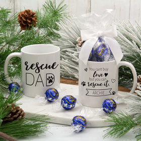 Personalized Rescue Dad 11oz Mug with Lindt Truffles