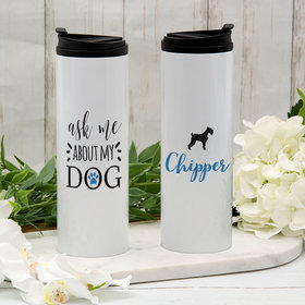 Personalized About My Dog - Schnauzer Stainless Steel Thermal Tumbler (16oz)