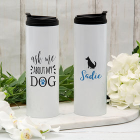 Personalized About My Dog - German Shepard Stainless Steel Thermal Tumbler (16oz)