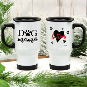 Personalized Dog Mama Stainless Steel Travel Mug (14oz)