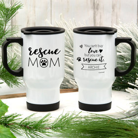 Personalized Rescue Mom Stainless Steel Travel Mug (14oz)