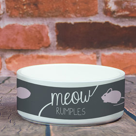 Personalized Large Pet Bowl - Meow