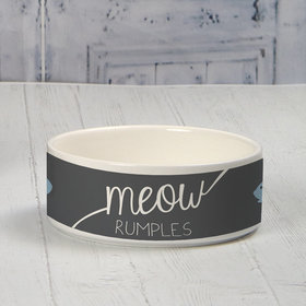 Personalized Small Pet Bowl - Meow