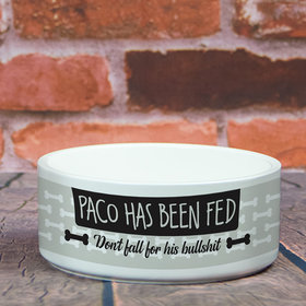 Personalized Large Pet Bowl - Has Been Fed