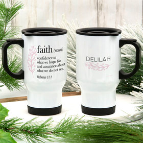 Personalized Faith Definition Stainless Steel Travel Mug (14oz)