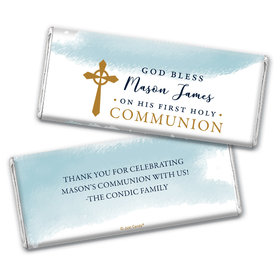 Personalized Communion God Bless Watercolor Chocolate Bars