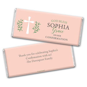 Personalized Confirmation God Bless Pink Chocolate Bars