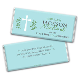 Personalized Communion God Bless Blue Chocolate Bars