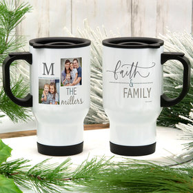 Personalized Stainless Steel Travel Mug (14oz) - Faith and Family