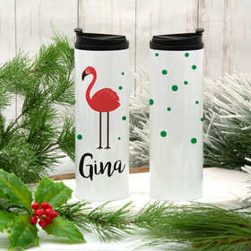 Personalized Flamingo Stainless Steel Thermal Tumbler (16oz)