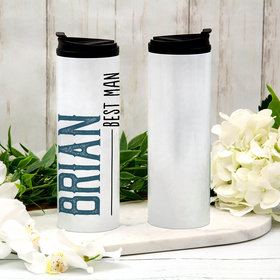 Personalized Best Man Stainless Steel Thermal Tumbler (16oz)