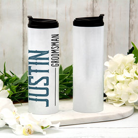 Personalized Groomsman Stainless Steel Thermal Tumbler (16oz)