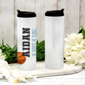 Personalized Basketball Stainless Steel Thermal Tumbler (16oz)