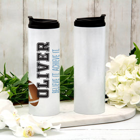 Personalized Football Stainless Steel Thermal Tumbler (16oz)