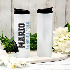 Personalized Hockey Stainless Steel Thermal Tumbler (16oz)