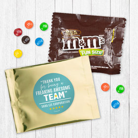 Personalized Teamwork Freaking Awesome Team - Milk Chocolate M&Ms