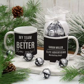 Personalized My Team is Better Than Yours 11oz Mug with Lindt Truffles