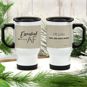 Personalized Essential AF Stainless Steel Travel Mug (14oz)