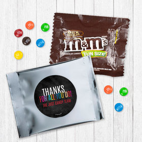 Personalized Business Colorful Thanks - Milk Chocolate M&Ms