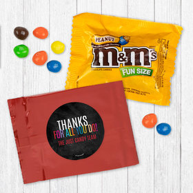 Personalized Business Colorful Thanks - Peanut M&Ms