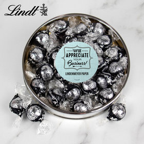 Personalized We Appreciate Your Business! Gift Tin - Lindor Truffles by Lindt