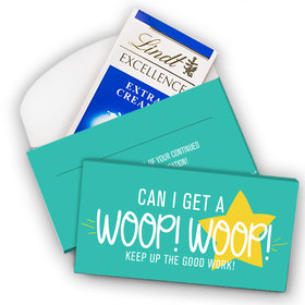 Deluxe Personalized Thank You Woop! Woop! Lindt Chocolate Bar in Gift Box (3.5oz)