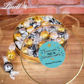 Personalized Teamwork Stars Gift Tin - Lindor Truffles by Lindt