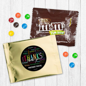 Personalized Business Thanks Languages - Milk Chocolate M&Ms