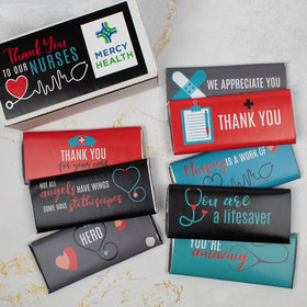 Personalized Nurse Appreciation Hershey's Chocolate Bars Gift Box - 8 Pack
