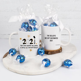 Personalized The One Where We Got Vaccinated 11oz Mug with Lindt Truffles