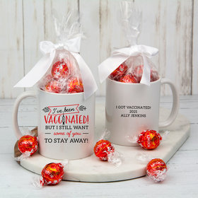 Personalized I've Been Vaccinated 11oz Mug with Lindt Truffles