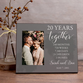 Personalized Picture Frame - Wedding Anniversary List