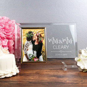 Personalized Picture Frame - Mrs. & Mrs.