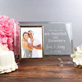 Personalized Picture Frame - We Decided on Forever