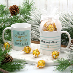 Personalized My Postponed Wedding 11oz Mug with Lindt Truffles