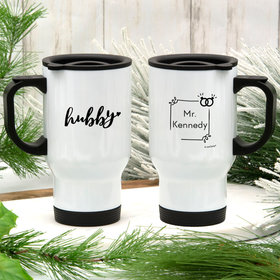 Personalized Hubby Stainless Steel Travel Mug (14oz)