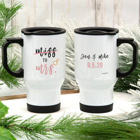 Personalized Miss to Mrs Stainless Steel Travel Mug (14oz)