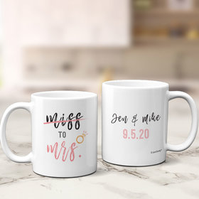 Personalized Miss to Mrs 11oz Mug Empty