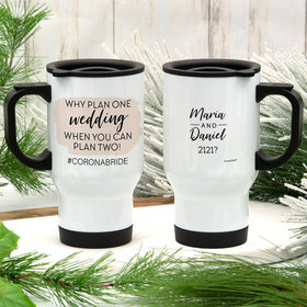 Personalized Stainless Steel Travel Mug (14oz) - Why Plan One Wedding