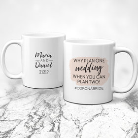 Personalized Why Plan One Wedding 11oz Mug Empty