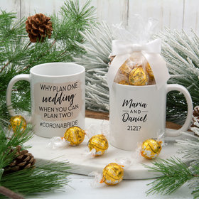 Personalized Why Plan One Wedding 11oz Mug with Lindt Truffles